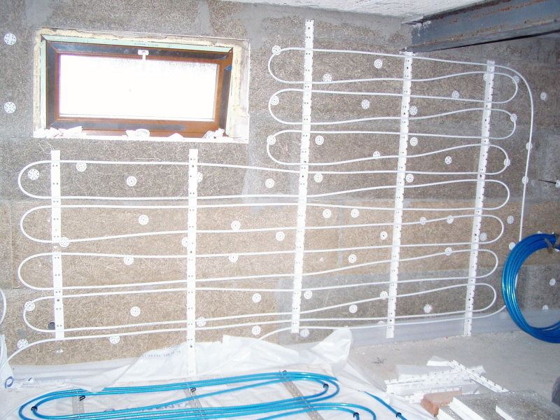 Wall heating univenta for In wall heating system